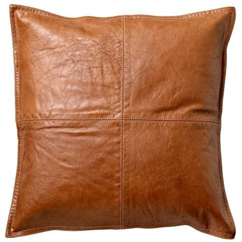 leather cusions danish tan brown leather cushion residential decoration