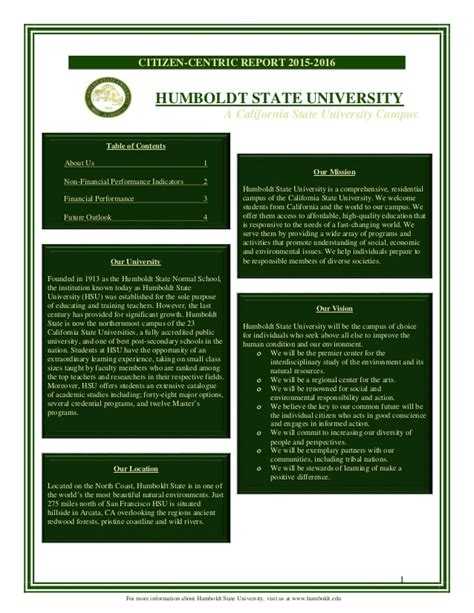 Mba Humboldt State by Citizen Centric Report Humboldt State Hsu