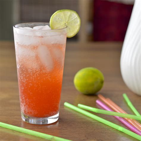 Handmade Soda - strawberry soda with lime virtually