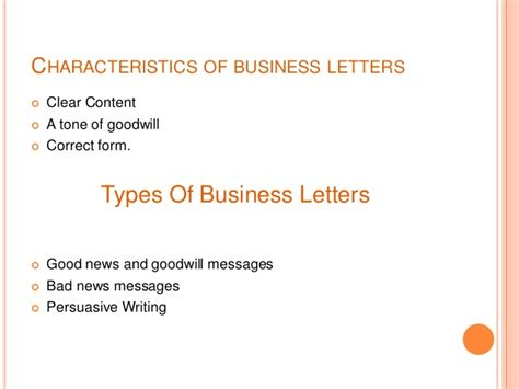 what are three characteristics a business letter and memo businessletter 121216123347 phpapp01
