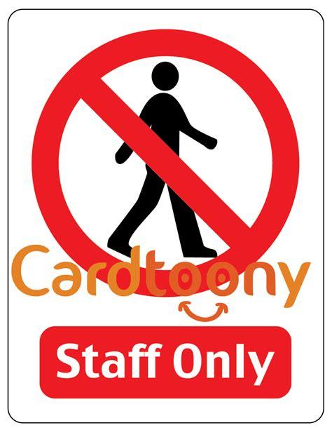jual sticker stiker tanda peringatan dilarang masuk staff only cardtoony