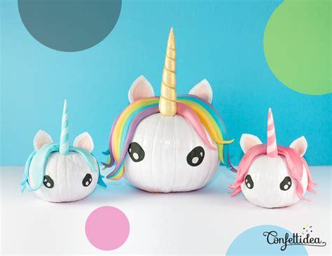 Home Outside Decoration by Diy Halloween Unicorn Pumpkins 187 Confettidea
