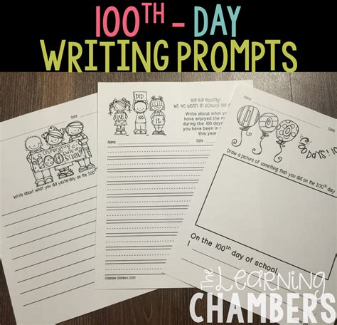 the 100 day prompt journal a writing prompt journal for self exploration and improvement books the elementary entourage 100 days number line with the