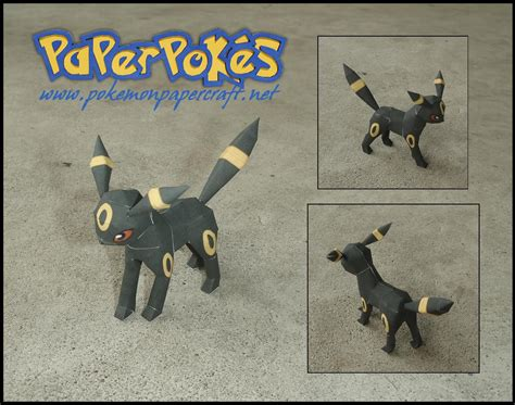 Umbreon Papercraft - mini umbreon papercraft by jyxxie on deviantart