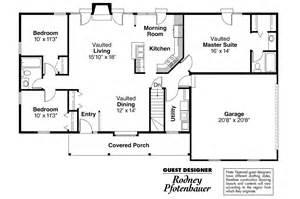 Master Bathroom Floor Plan Ranch House Plans Glenwood 42 015 Associated Designs