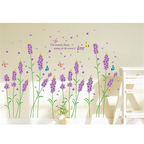 Hanging Lavender Wall Sticker Am7014 Removable Purple Lavender Wall Sticker Home Decor Decal Alex Nld