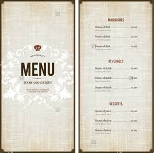 Menu Design Templates by Menu Design Template 40 Free Psd Eps Documents