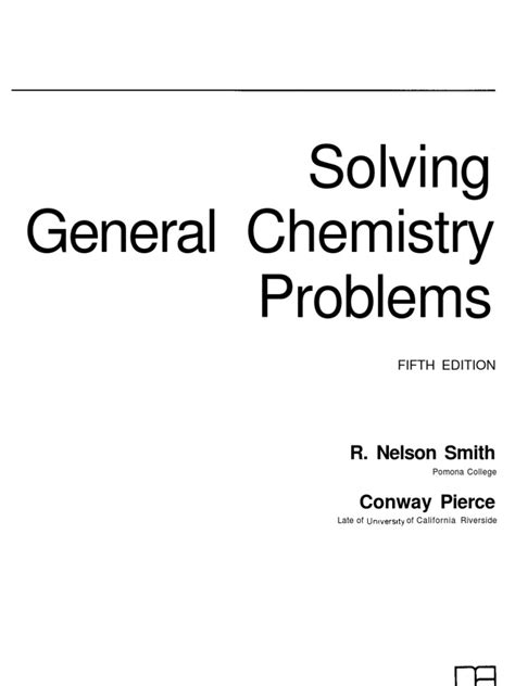 Solving General Chemistry Problems 5th ED - R. Nelson
