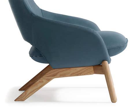 kalm wood base lounge chair hivemodern