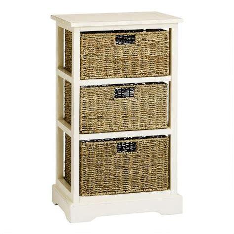 white aspen 3 basket storage cabinet tree