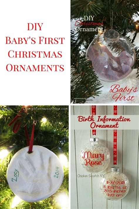 diy baby s first christmas ornaments