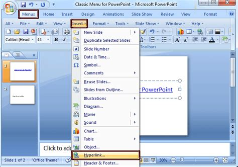 format html hyperlink where is the edit links command in powerpoint 2007 2010