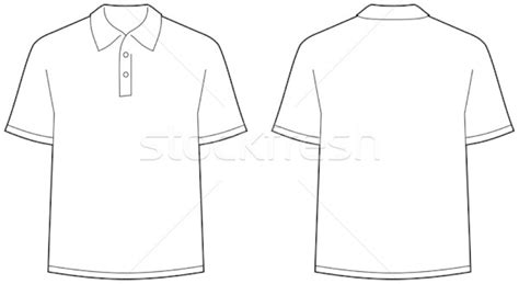 Kaos Polos Twotone Black polo shirt front and back view vector illustration 169 mr