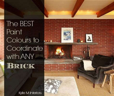the best paint colours for walls to coordinate with a brick fireplace colors benjamin