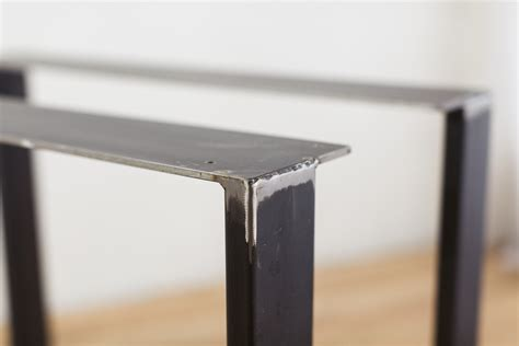 diy u shaped table legs steel u legs factor fabrication