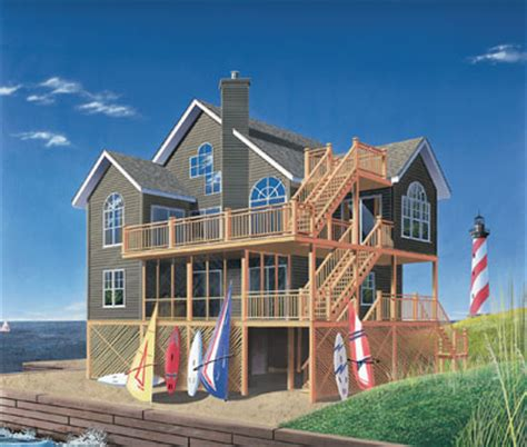 5 bedroom beach house plans beach style house plans 2392 square foot home 2 story 5 bedroom and 3 bath 0