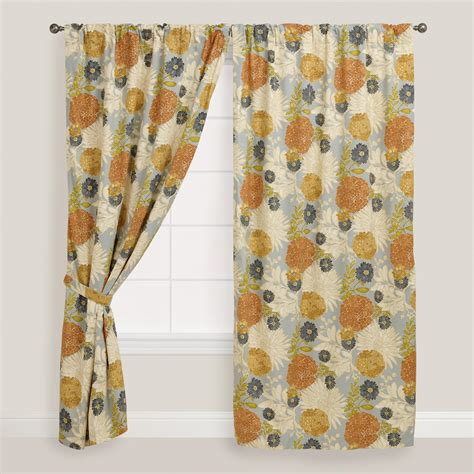 curtains world market floral mackenzie cotton tab top curtain world market