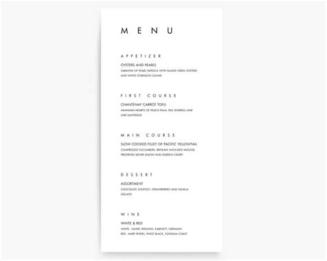 rehearsal dinner menu template best 25 rehearsal dinner menu ideas on