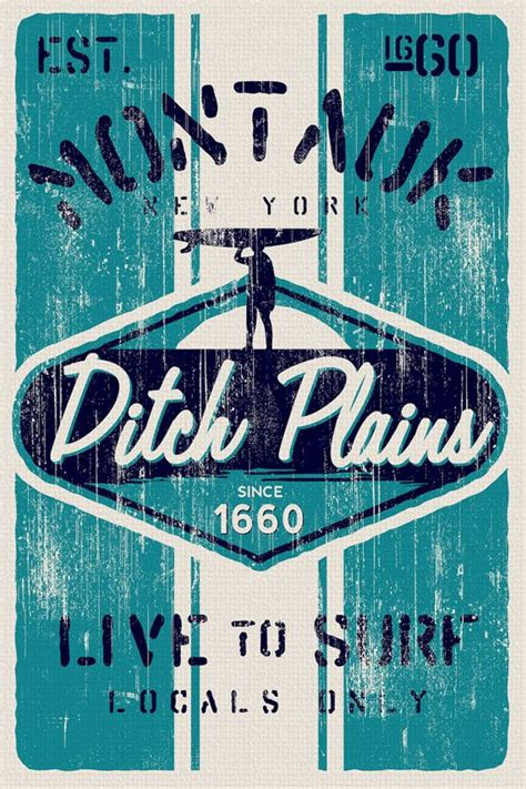 imagenes surf vintage montauk ditch plains retro vintage surf poster screen
