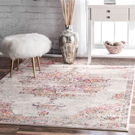 where to buy area rug nuloom vintage medallion pink rug 9 x 12 free shipping today overstock