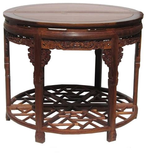 asian accent table chinese huali rosewood carved round table asian side