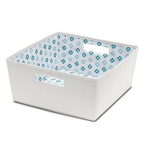 bed bath and beyond storage bins b in 174 fabric half storage bin in grey bed bath beyond