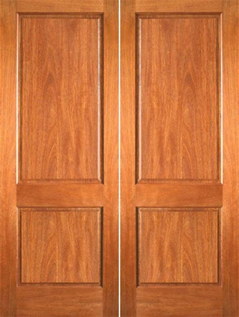 P 620 Interior Wood Mahogany 2 Panel Double Door 2 Panel Interior Wood Doors