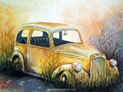 Autos Malen Acryl by Pin Aquarell Acryl On Pinterest