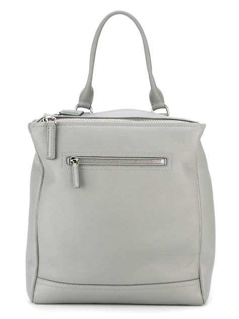 Backpack Leather Grey lyst givenchy pandora leather backpack in gray
