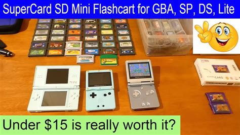card sd mini flash cart for gba gba sp and ds ds