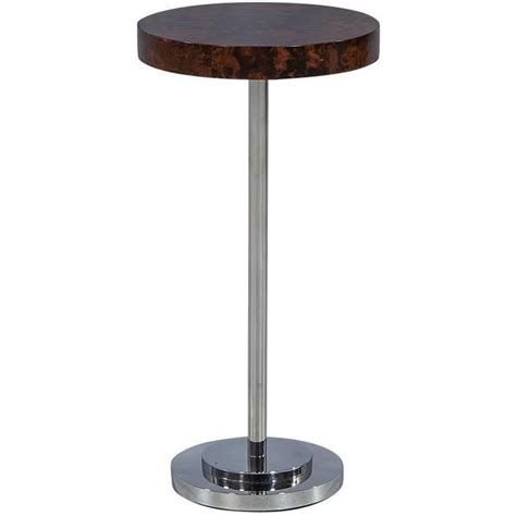 round metal accent table round compact walnut and metal accent table for sale at