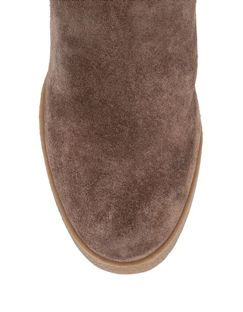 vince camuto landri suede wedge ankle boots in lyst