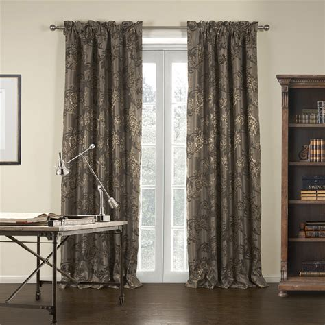 pattern blackout curtains classic polyester blackout curtain with jacquard flora