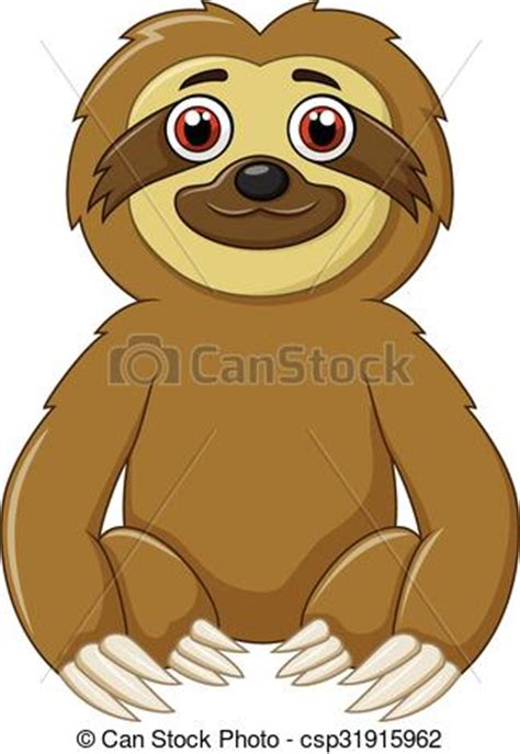 clipart divertenti clip vector of sloth animal sitting