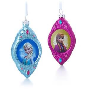 frozen elsa and anna christmas ornaments set of 2