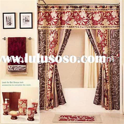 red double swag shower curtain swag shower curtain attached valance 8882