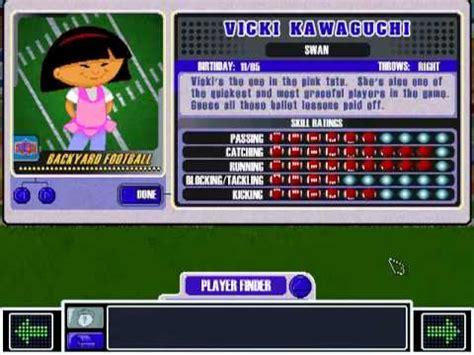 vicki kawaguchi theme backyard football 2002