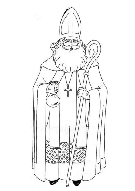 st nicholas coloring page saint nicholas day pinterest