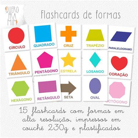 figuras geometricas imagens e nomes kit com 12 flashcards formas geom 233 tricas quero pra mim
