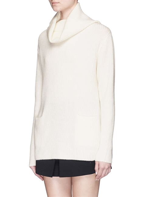 white turtleneck sweater vince cashmere turtleneck sweater in white lyst