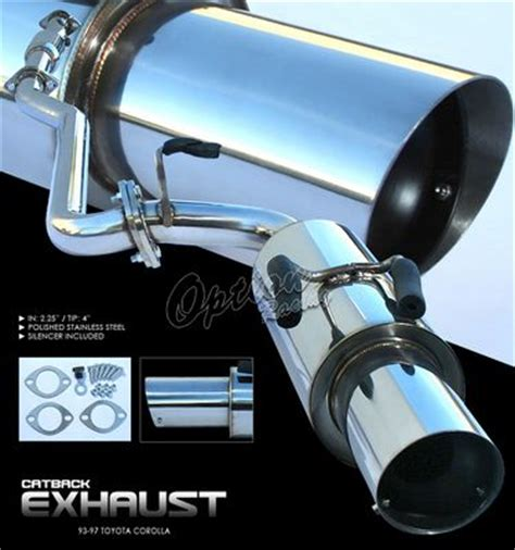 1997 Toyota Corolla Exhaust System Toyota Corolla 1993 1997 Cat Back Exhaust System