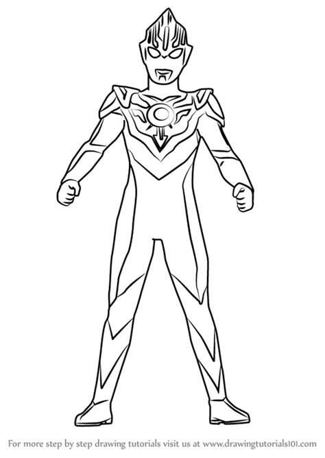 ultraman coloring pages printable learn how to draw ultraman orb ultraman step by step
