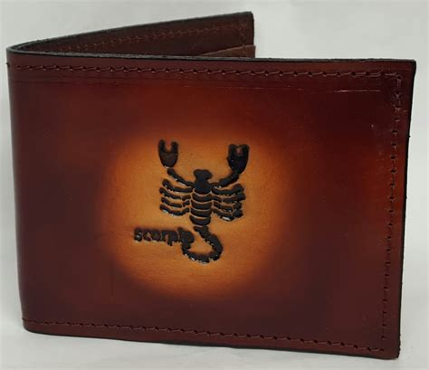 Handmade Leather Wallets Usa - scorpio bifold leather wallet leather belts usa