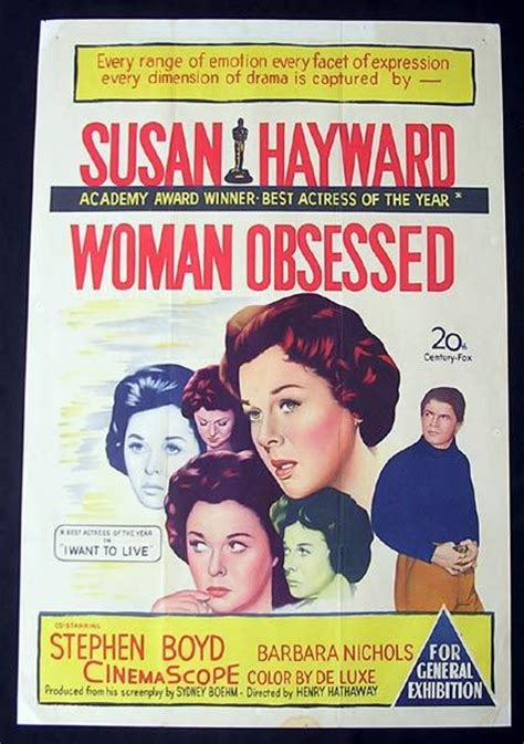 film about obsessed woman woman obsessed one sheet movie poster susan hayward
