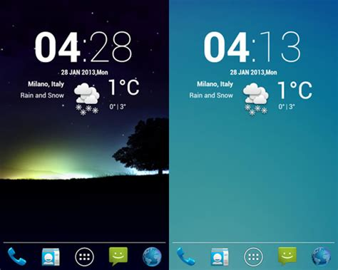 clock widgets for android 5 awesome weather widgets for your android home screen