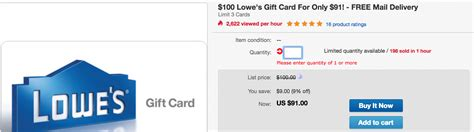 Airbnb Physical Gift Card - oos 100 lowe s gift card for 91 from svm doctor of credit