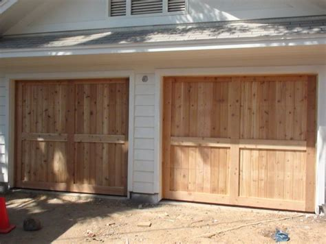 build our own wood garage door