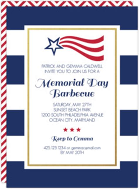 Richies Memorial Day Invitation by Modern Bbq And Flags Memorial Day Invitation Memorial