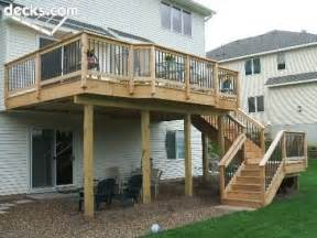 Back Porch Stairs Design 2nd Story Deck Stairs Outdoors