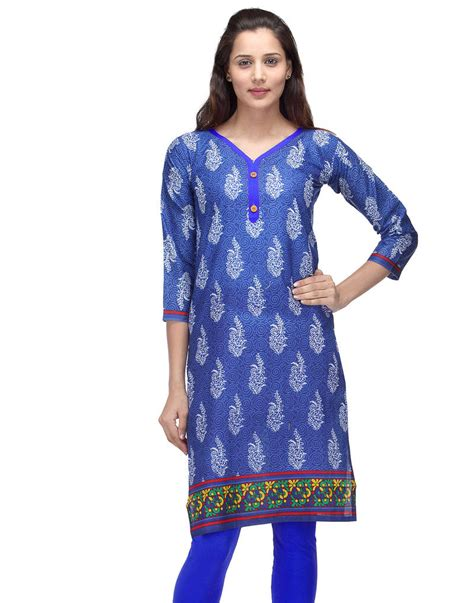 print pattern kurti buy blue printed cotton floral print kurtis online